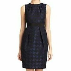 Carmen Marc Volvo Sheath Dress Houndstooth Jaquare
